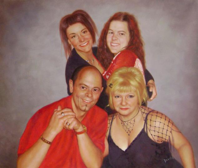 peintures portraits famille