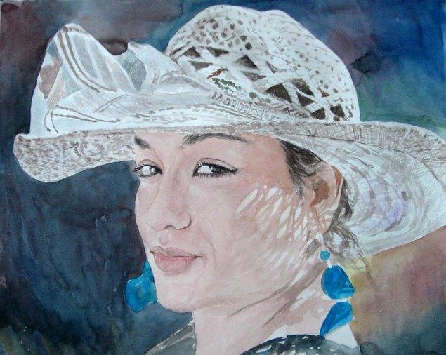 retratos  en acuarela, foto a pintura personalizada