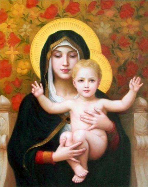 religieuze foto naar olieverfschilderij