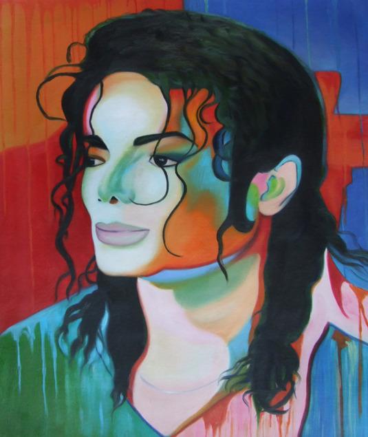 dipinti foto Michael Jackson