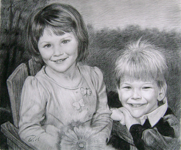 realistic charcoal art