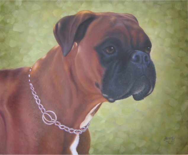 pittura cane