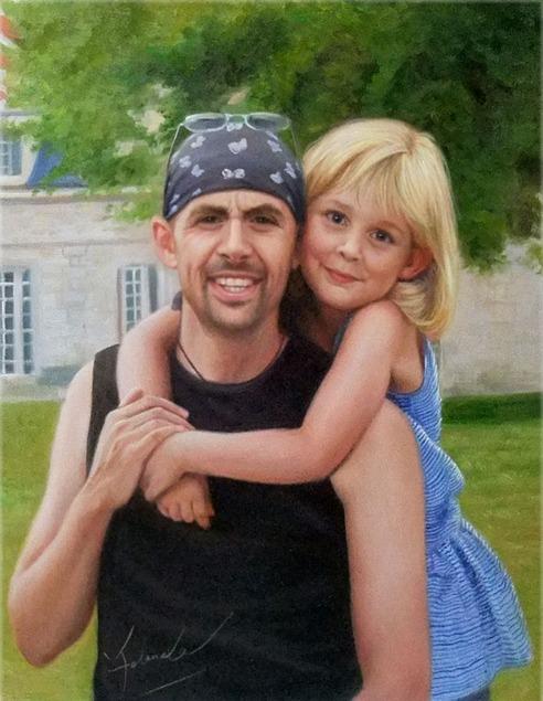 Portrait Papa et fille