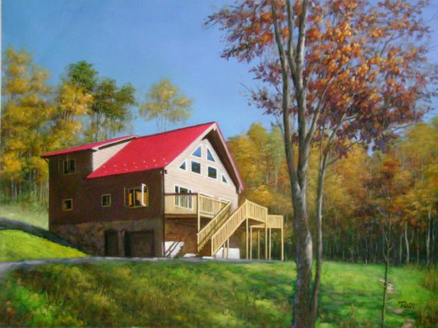Portrait de maison et paysage