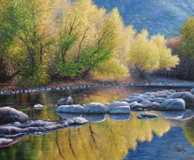 realistic handmade landscape painting