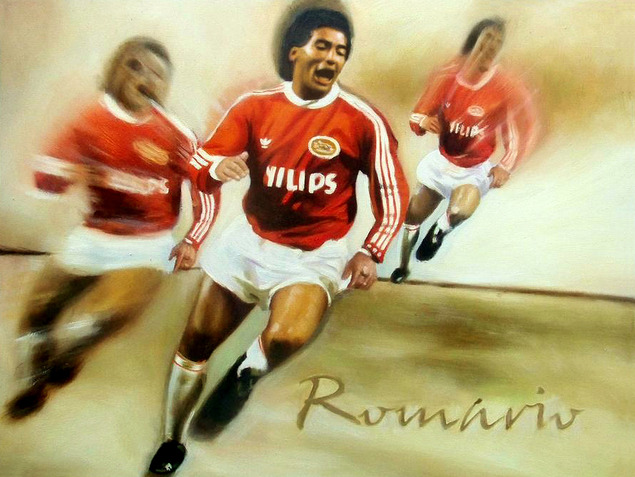 voetballer portretschilderen