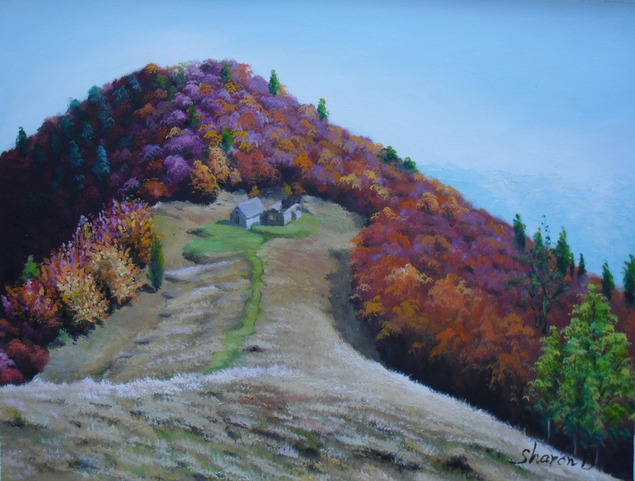 foto paesaggio dipinto in olio