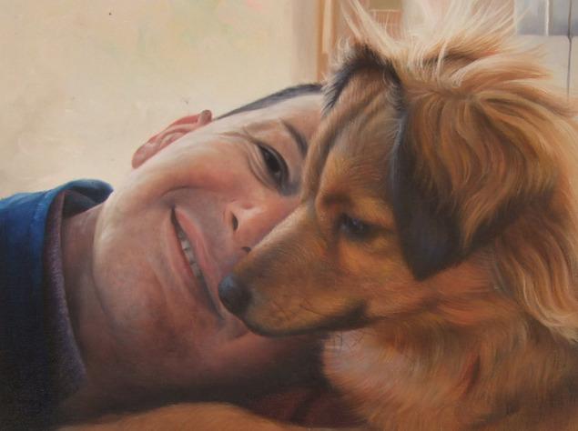 pittura cane di foto