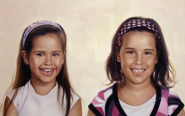 portrait peinture soeurs