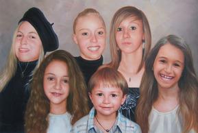 peintures portraits familles