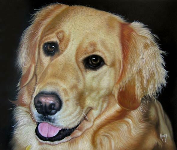 dog painting custom
