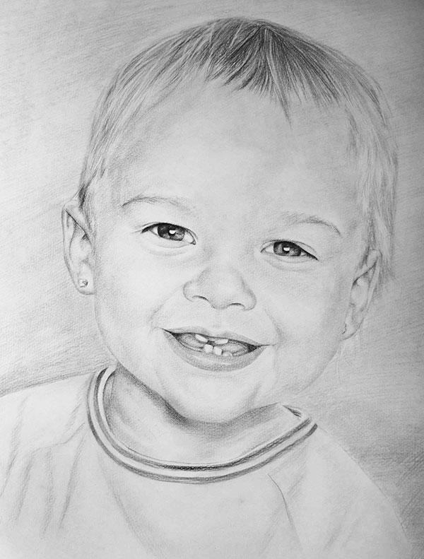 Bébé en peinture