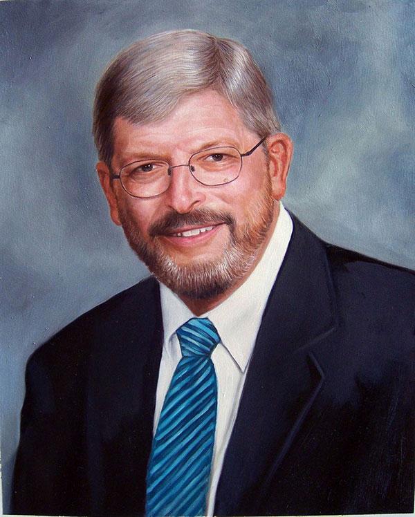 oil portrait of a man