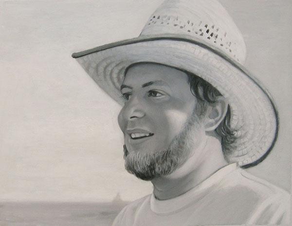custom acrylic black and white portrait of him