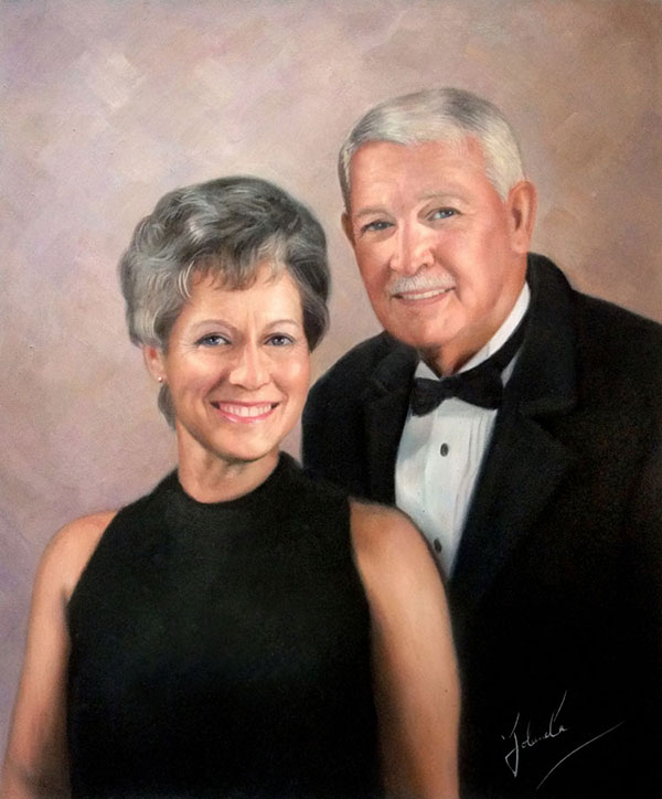 oil portrait of a couple