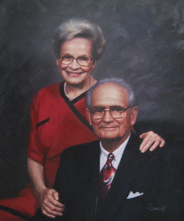 paint a photo of happy elder white couple