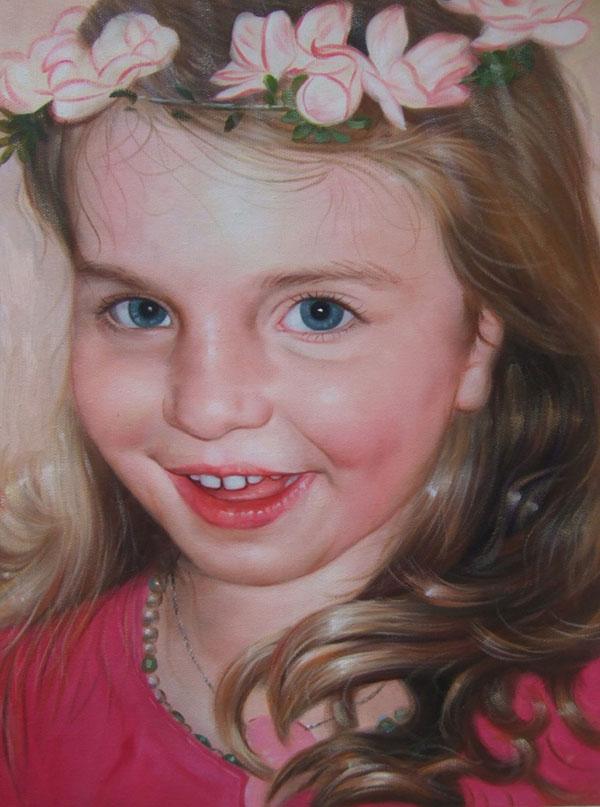 Gemälde eines jungen Mädchens