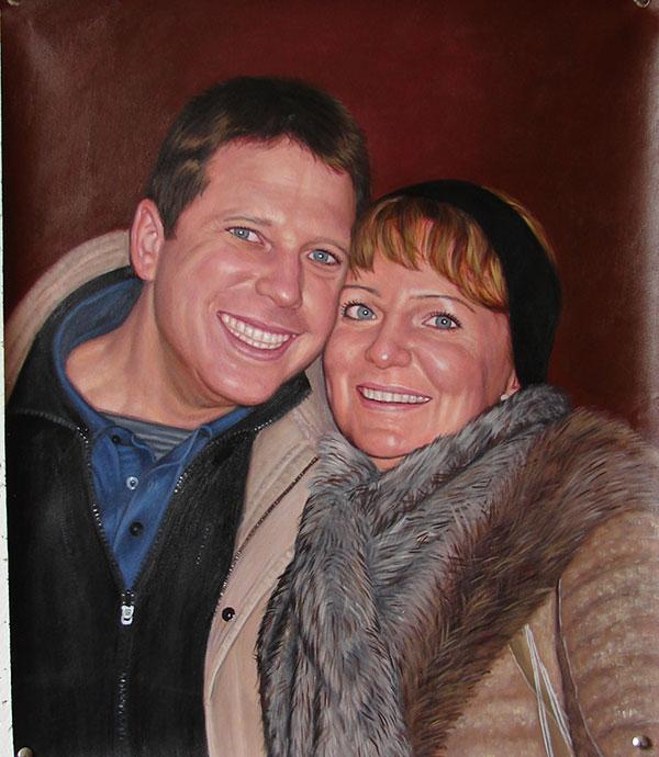 Familienfoto als Acrylgemälde