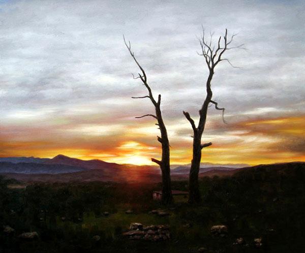pintura de paisaje de la foto