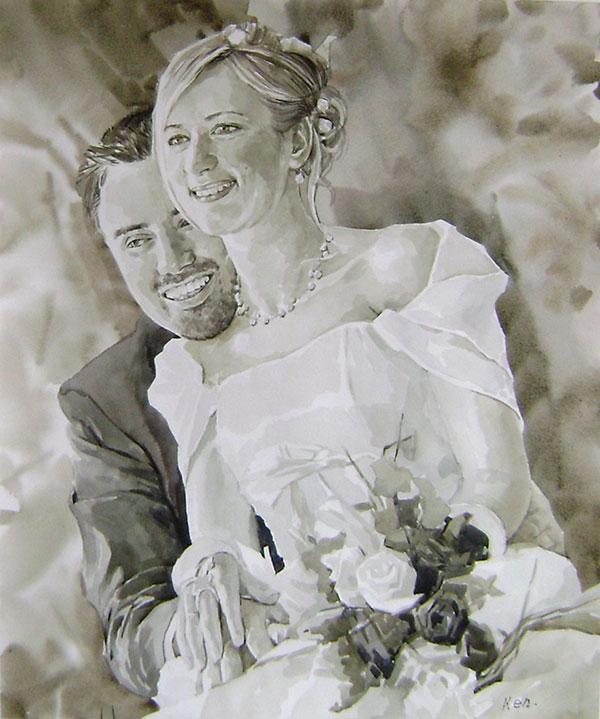 peinture couple d amoureux
