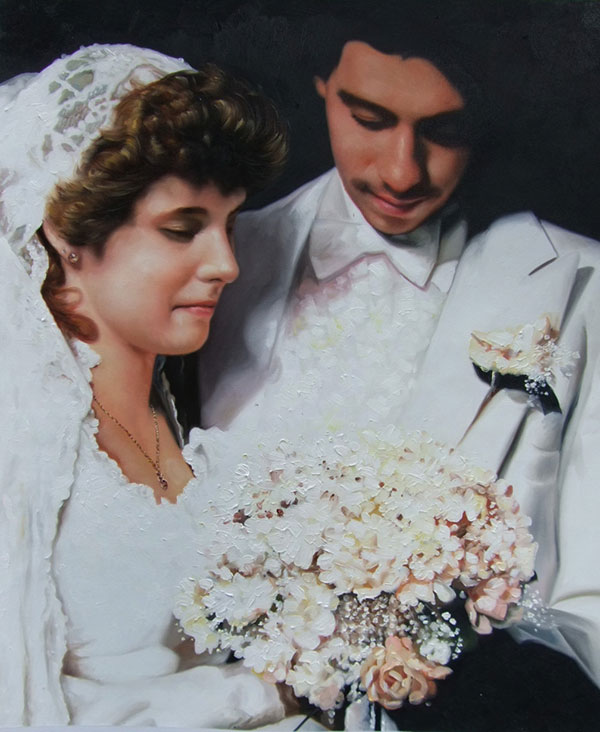 wedding painter vintage style custom
