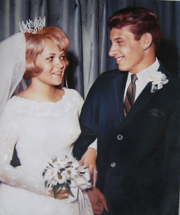custom wedding portrait vintage style couples