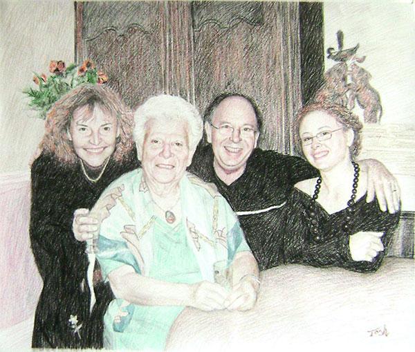 tableau peinture famille
