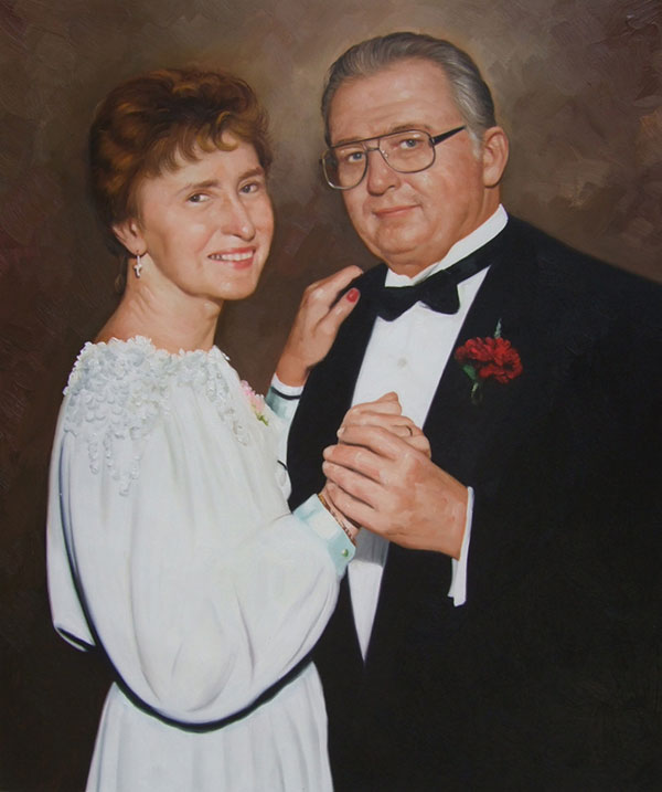 custom oil painting local wedding artists