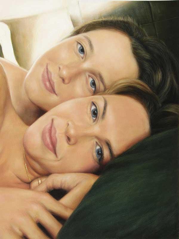 Portrait de jumelle