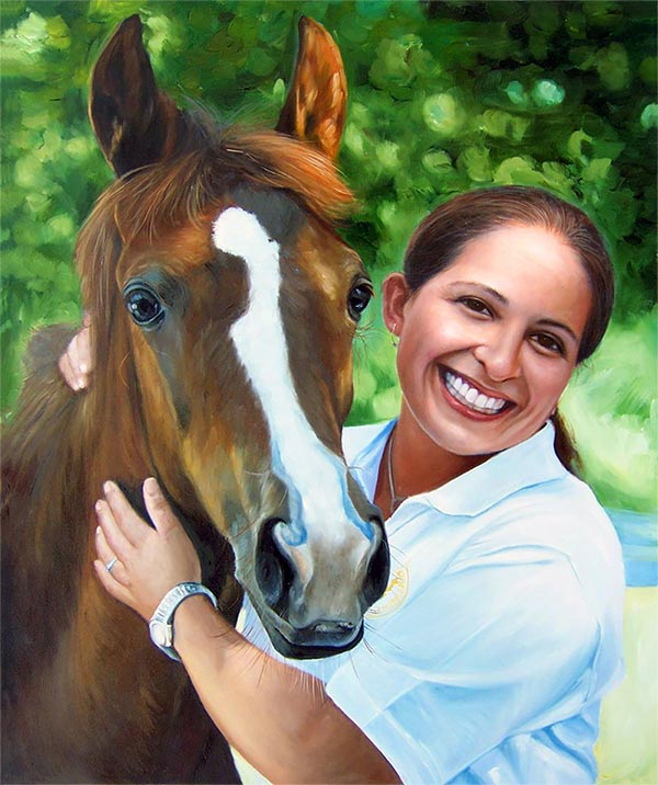 convert photo of a horse to painting
