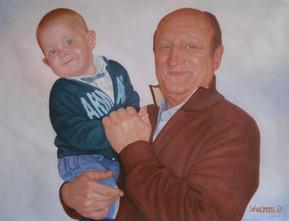 foto di famiglia dipinto in olio