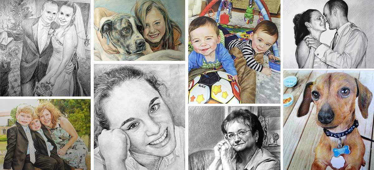 Portraits crayon