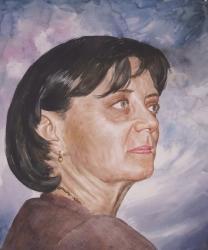 portrait de femme en peinture
