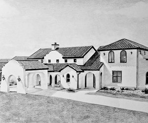 Custom Black Pencil House Painting