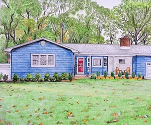 Custom Color Pencil House Painting