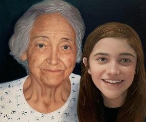 Grandparents Oil Paintings
