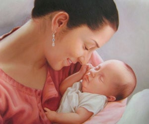 Parent and Child Oil Paintings
