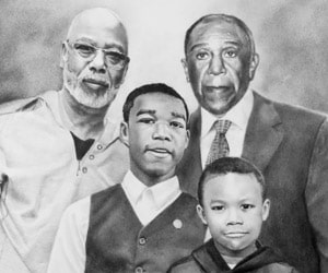 Family Black Pencil Drawings