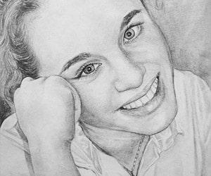 Portrait Black Pencil Drawings