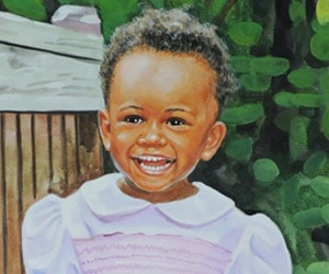 Custom Watercolor Child Painting